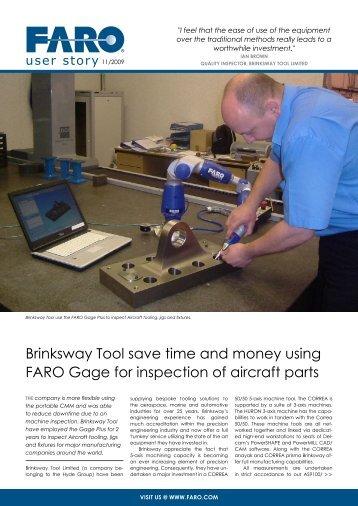 Brinksway Tool save time and money using FARO ... - FARO Asia