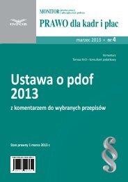 Ustawa o pdof 2013 - Infor