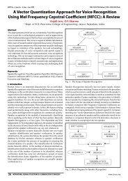 A Vector Quantization Approach for Voice Recognition Using ... - iject