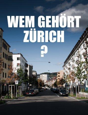 Magazin - Wem gehört Zürich?