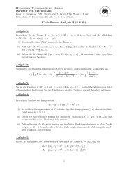 Humboldt-Universität zu Berlin Institut für Mathematik Probeklausur ...