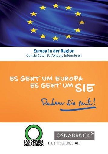 Europa in der Region - Osnabrücker EU-Akteure informieren