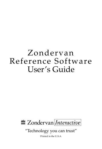 Zondervan Reference Software User's Guide - Bitsbytescomputer.com
