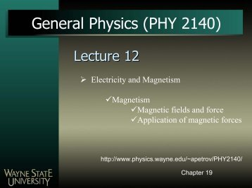 General Physics (PHY 2140) - Physics & Astronomy