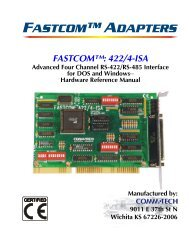 FASTCOM™: 422/4-ISA HARDWARE MANUAL - Commtech ...