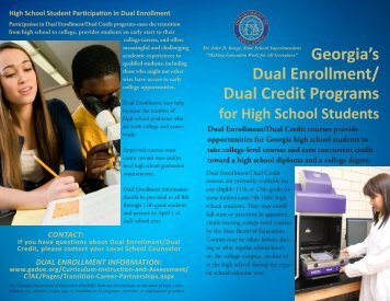 What are Dual Enrollment/Dual Credit Programs? - Georgia ...