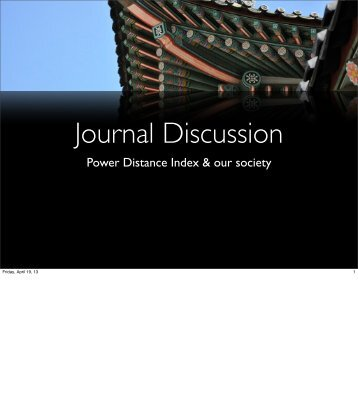 IES 1 – Week 7 (Journal read discussion – PDI)