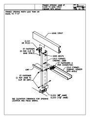 Framed Opening Detail - Ceco Building Systems