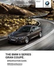 Specification guide (PDF) - BMW