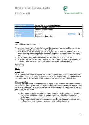 Notitie Forum Standaardisatie FS20-06-05B - Logius