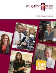 Faculty Handbook - Fairmont State University