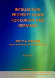 INTELLECTUAL PROPERTY GUIDE FOR EUROPE AND GERMANY