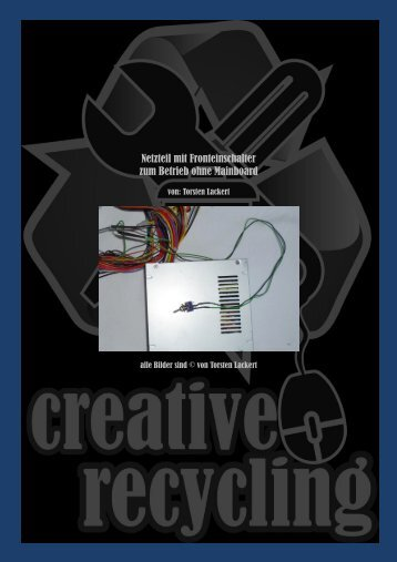 PC Netzteil mit Fronteinschalter - creative-recycling bei google+