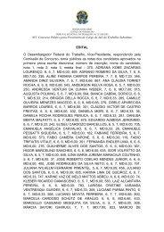 Edital - Relação de Aprovados - Primeira Prova Escrita Discursiva.