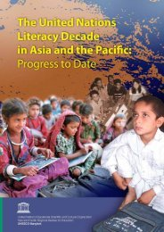 The United Nations literacy decade in Asia and the Pacific Progress ...