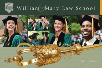 Download our Brochure - William & Mary Law