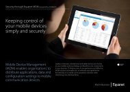 Keeping control of your mobile devices simply and securely - Equanet