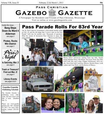 Feb 22-Mar 1, 2013 issue - Gazebo Gazette