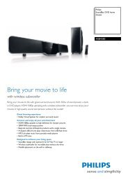 HSB4383/12 Philips SoundBar DVD home theater - Mixi Foto Video