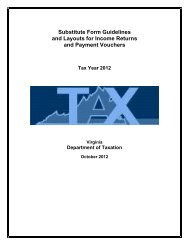 Substitute Form Guidelines and Layouts for Income Returns