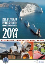 What is an Integrated Risk Management Plan? - Isle of Wight Council