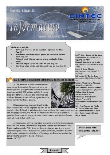 Informativo Cintec 43ª edição