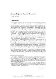 Human Rights in Times of Terrorism - Zeitschrift für ausländisches ...