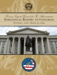table of contents - Department of the Treasury
