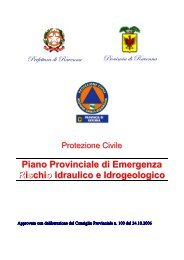 Piano di emergenza provinciale - Rischio idraulico ed idrogeologico