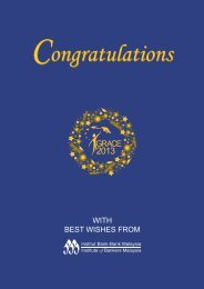 WITH BEST WISHES FROM - Institute of Bankers Malaysia
