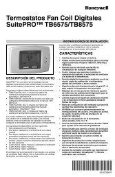 Termostatos Fan Coil Digitales SuitePRO™ TB6575/TB8575