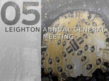 Annual General Meeting Presentation (PDF - 7.4 MB)