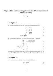 Musterlösungen Aufgaben 13