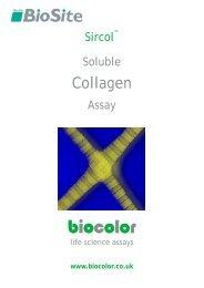 Sircol COLLAGEN Assay Manual - Nordic Biosite