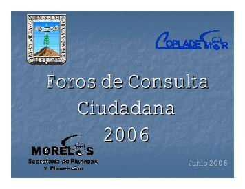 Junio 2006 - Gobierno del Estado de Morelos