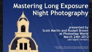 Bill Conway's presentation on Night Photography