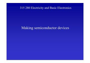 Making semiconductor devices