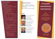 Manaž - Fakulta matematiky, fyziky a informatiky