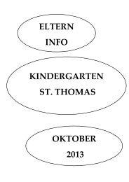 Elternbrief - Kindergarten St. Thomas
