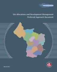 Site Allocations and Development Management Preferred Approach ...