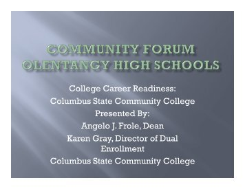 Columbus State Community College - Olentangy Local Schools