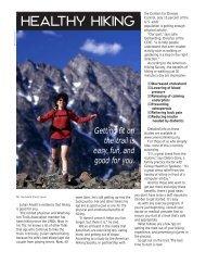 Healthy Hiking - Washington Trails Association