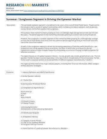 Sunwear / Sunglasses Segment is Driving the Eyewear Market