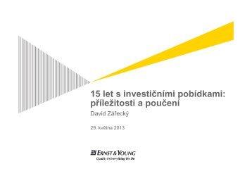 15 let s investičními pobídkami - CzechInvest