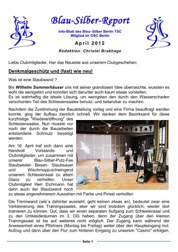 April 2012 - Blau-Silber Berlin