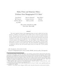 Sticky Prices and Monetary Policy: Evidence from ... - CiteSeerX