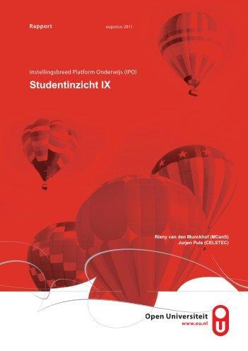 Studentinzicht IX - Open Universiteit Nederland