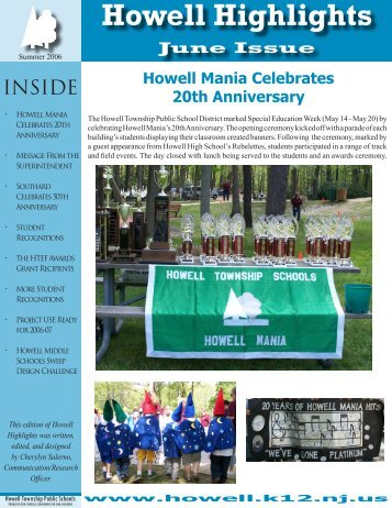 Howell Highlights - Howell Township Public Schools