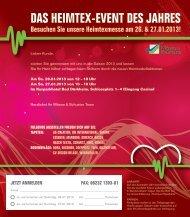 DAS HEIMTEX-EVENT DES JAHRES - Wässa & Schuster