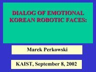 DIALOG OF EMOTIONAL KOREAN ROBOTIC FACES: